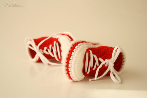 Baby Booties Free shipping Crochet Baby Converse