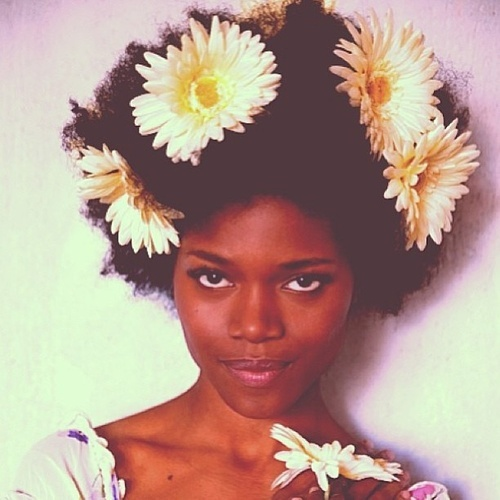 With Daisies in Her Hair