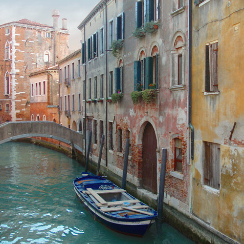 Travel Photography Venice Italy Canals Teal