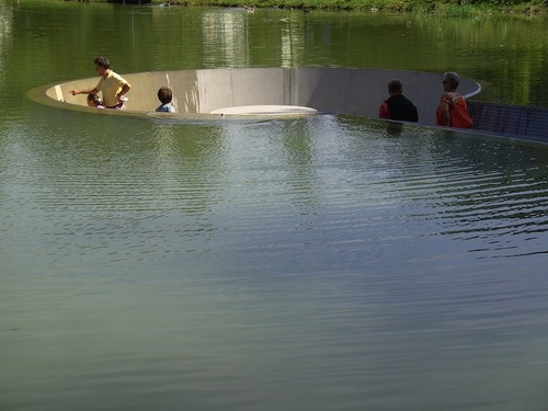 Sunken platform gives different view of lake - Think Tank UK
