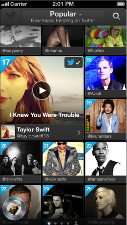 Twitter #music arrives first on iOS, then the web - Powered by Kaya...