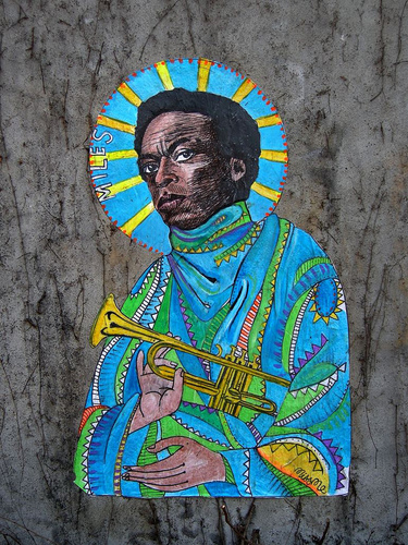 miles davis by miss me art