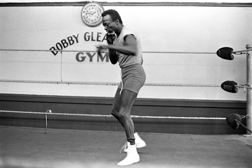 Miles Davis at bobby gleason gym, brooklin, 1969