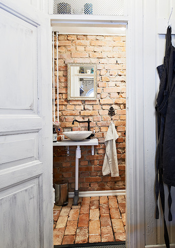 Another brick in the bathroom