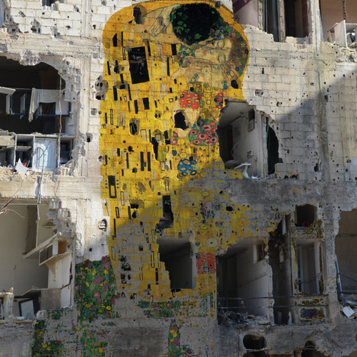 Tammam Azzam, Freedom graffiti