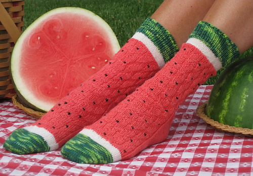 MAKE | Watermelon Slice Socks