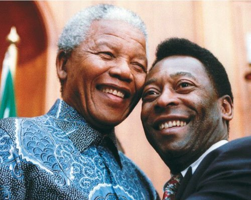 Nelson Mandela and Pelé