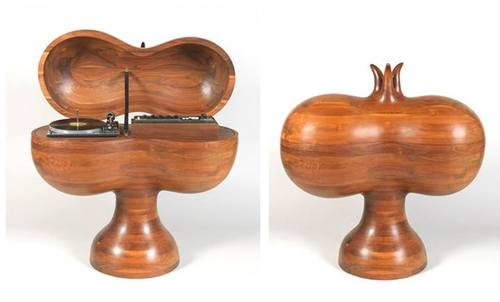 Chest for stereo. Designed and made by Wendell Castle, 1973...