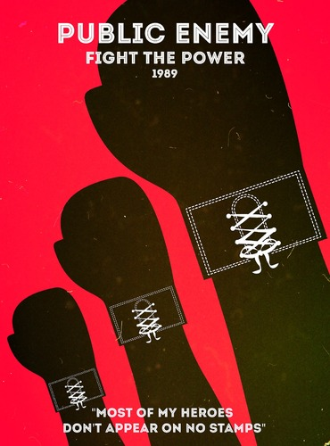 "Rap Posters : Public Enemy ""Fight the power"""