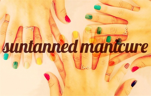 Manicure and Tan. Nail varnishes that enhance your tan