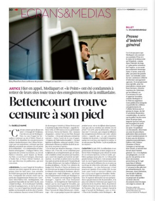 Mediapart / Bettencourt : discrétion de la presse traditionnelle