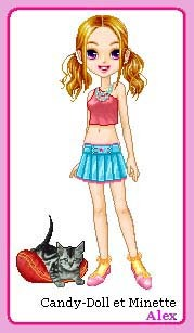 Candy-Doll et Minette par Alex