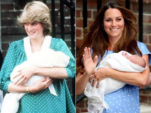 Spot the difference ... Kate echoes Diana in polka dot dress