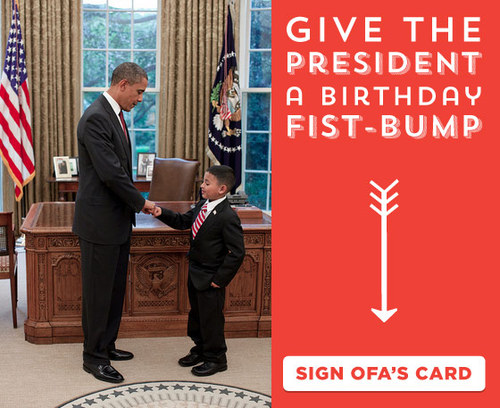 Give Obama a Birthday Fist-Bump