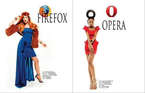 Viktorija Pashuta Fashion Photographer: What If Girls Were Internet Browsers