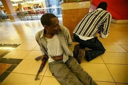 Allegedly one of the gunmen #Westgate Mall - Nairobi