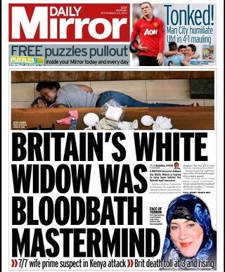 Twitter / suttonnick : Monday's Daily Mirror front ...