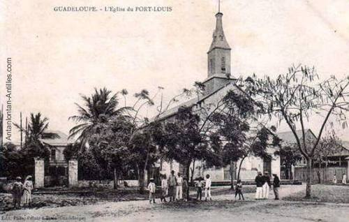 Eglise de Port-Louis - Guadeloupe an tan lontan