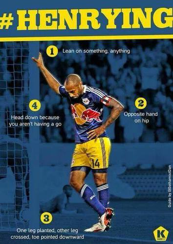 #Henrying...brought to you by the legendary Thierry Henry.