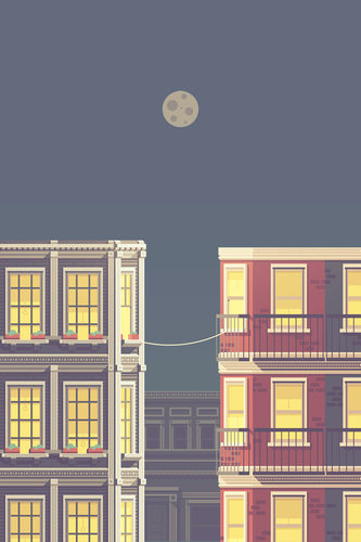 La Telephone – A Love Story: A Beautiful Illustration by Justin Mezzell
