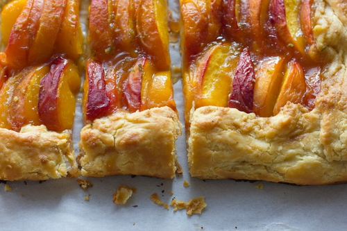 Summer Peach Galette » cake crumbs & beach sand