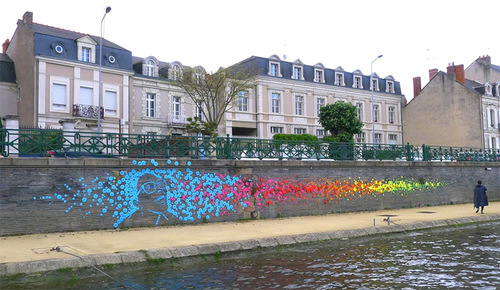 New Origami Street Art in Angers, France by Mademoiselle Maurice.