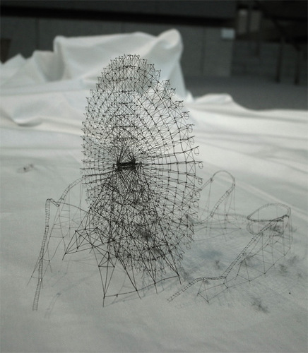 Topographical Maps Carved from Electrical Tape and Intricate Thread Sculptures by Takahiro Iwasaki