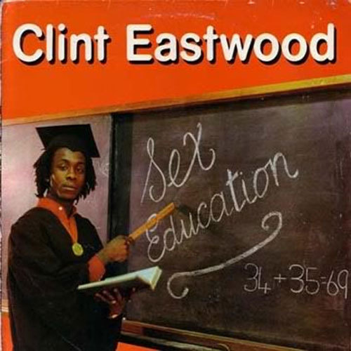 Reggae Album Cover : cover for the 1980 Clint Eastwood album 'Sex Education'
