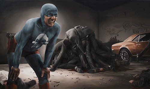 The Life and Times of an Aging Superhero Captured in Oil Paintings by Andreas Englund