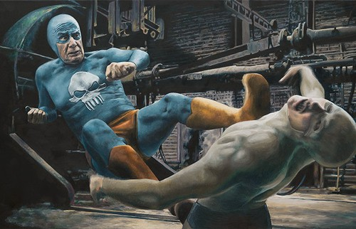 Aging Superhero: Oil Paintings by Andreas Englund
