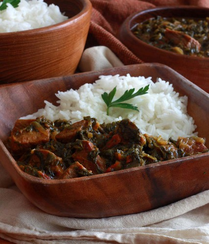 Saag Gosht (Punjabi Beef and Spinach Curry)