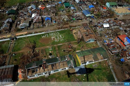 AFP: PHOTO: Aerial photo shows message ...