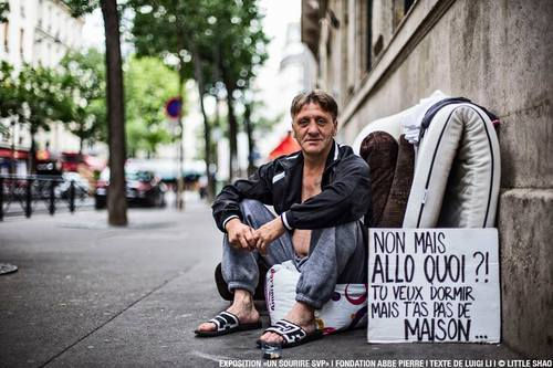 Non mais allo quoi?! Tu veux dormir mais t'as pas de maison... #homeless