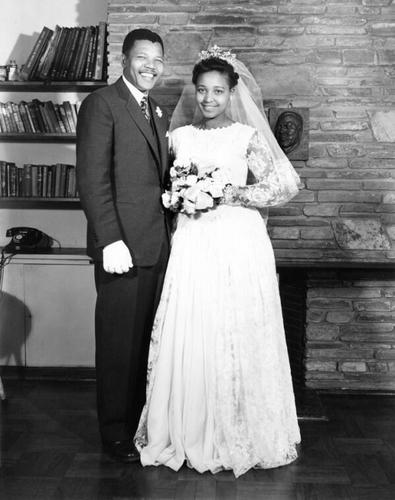 Beautiful Portrait - Nelson and Winnie #Mandela on their wedding day
