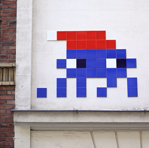 Space Invader - Paris, France