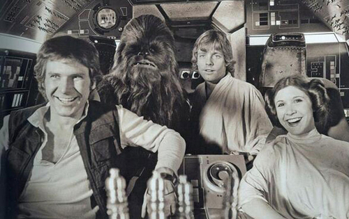 Star Wars : les photos inédites du tournage, 61 photos prise par Chewbacca