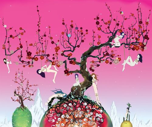 Japanese Apricot 3 - A pink dream | Chiho Aoshima・Artworks | Kaikai Kiki Co., Ltd.