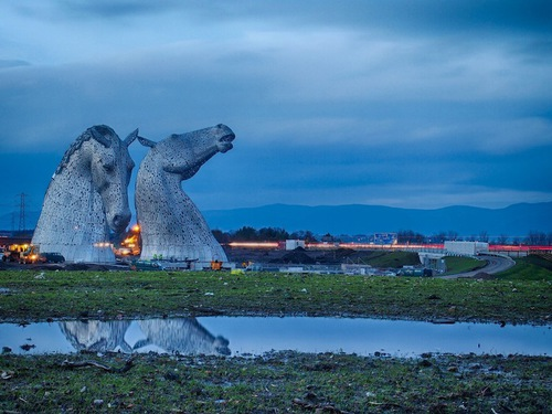 Giant Horse Head Sculptures Transform the Scottish Skyline