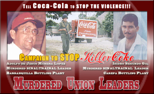 Campaign to Stop Killer Coke | Tell Coca-Cola to STOP the VIOLENCE!