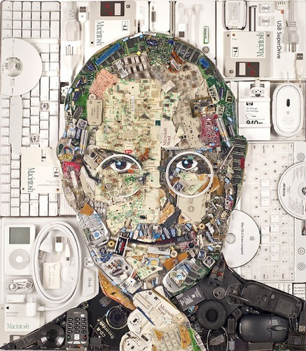Awesome Steve Jobs Portrait Created From E-Waste