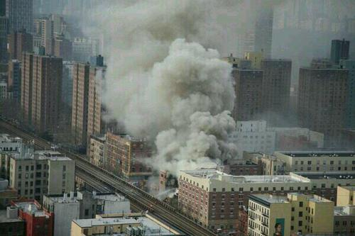 Explosion and Fire near 116th and park @ East Harlem / New-York