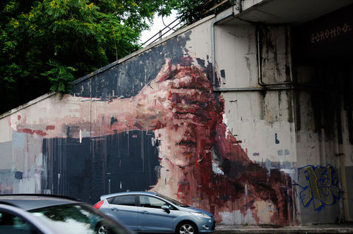 Street Art : Painting by Borondo during the Logout Project in Italy : street-art pictures - Live! by