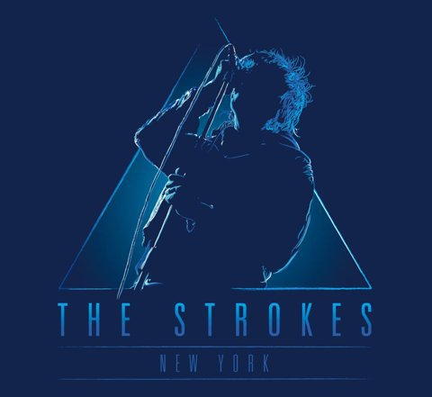 FFFFOUND!   Work in progress: The Strokes (music band series - hope you like it)   Threadless