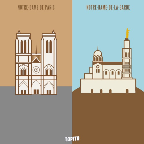 Top 30 des illustrations « Paris vs Marseille », le grand clash en images