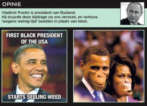 De Morgen accusé de racisme suite à un photomontage d'Obama - Belgique - Actualité - LeVif.be