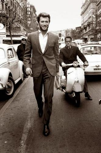 Clint Eastwood in Rome in the 1960's