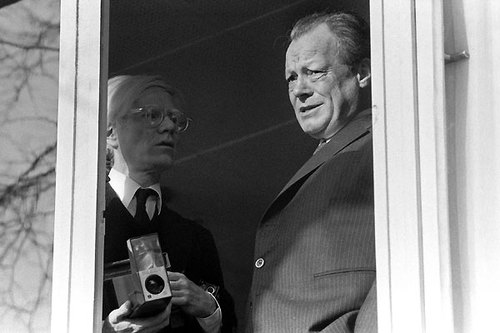 Andy Warhol with Willy Brandt, 1976