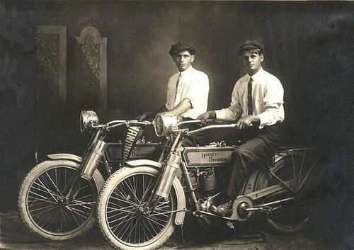 William Harley and Arthur Davidson, 1914