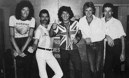 Queen with Diego Maradona, 1981