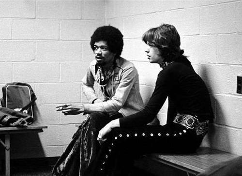 Hendricx en pleine discussion avec Mike Jagger